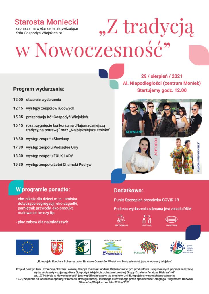 """Plakat """"Z tradycją w Nowoczesność"""""""