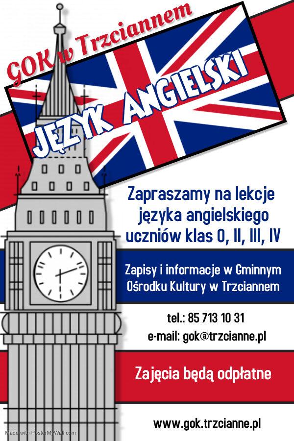 Plakat - nauka języka angielskiego